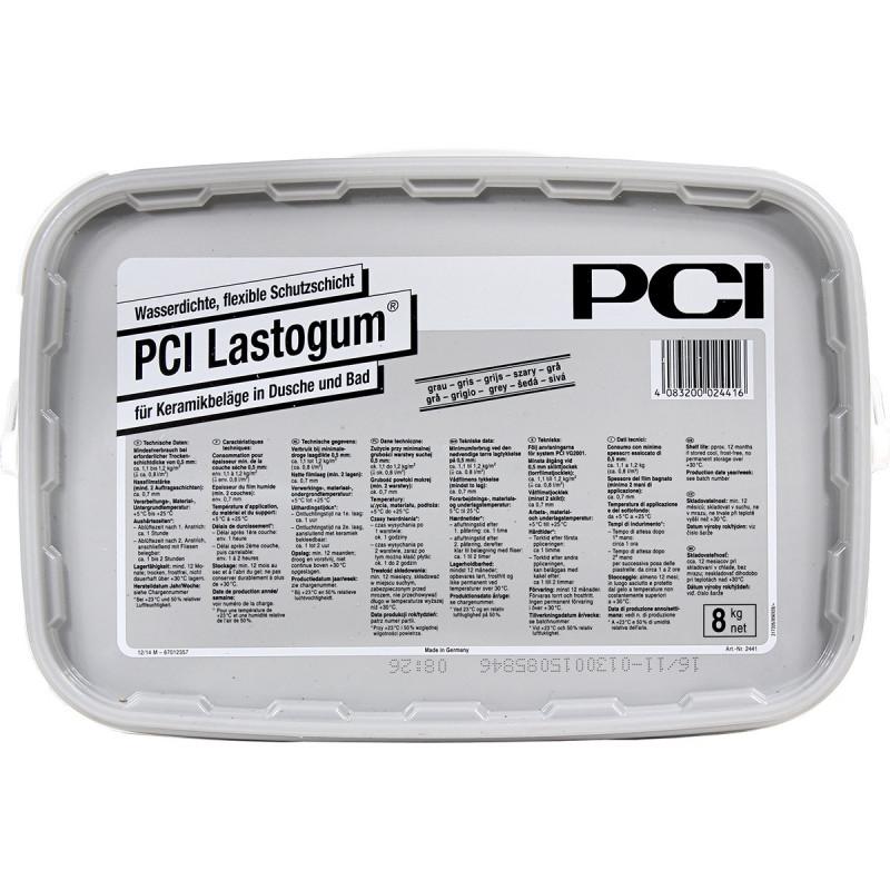 Płynna powłoka uszczelniająca PCI Lastogum 8 kg Szary