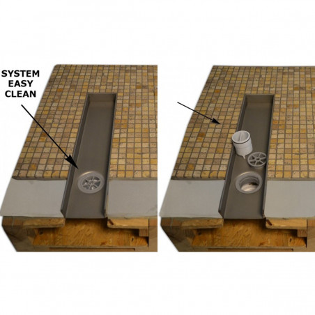 Odpływ liniowy Wiper 600 mm Classic Ponente
