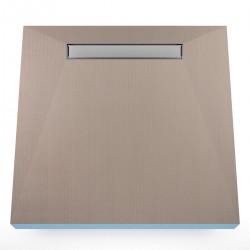 Płyta prysznicowa Wiper 800 x 800 mm Liniowa Invisible